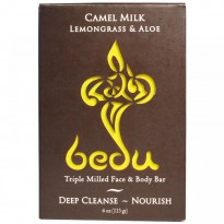 One with Nature, Triple Milled Face & Body Bar, Camel Milk Lemongrass & Aloe, 4 oz (113 g)
